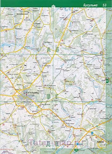 карта Азнакаевского района