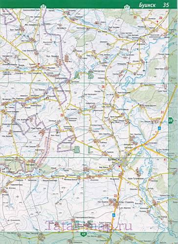 карте автодорог Татарстана