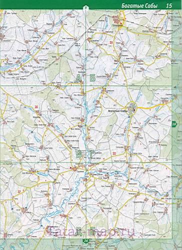 Автомобильная карта Сабинского