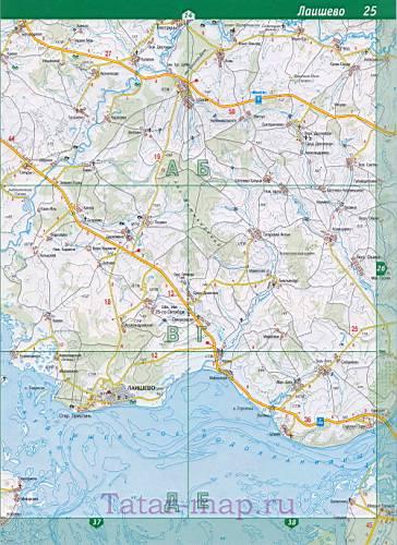 города Казань. Карта